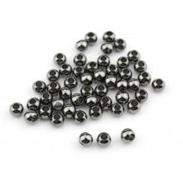 Lot de 8 perles de séparation Plaqué Rhodium Noir Diamètre 3 mm Apprets de bijouterie pour la création de bijoux