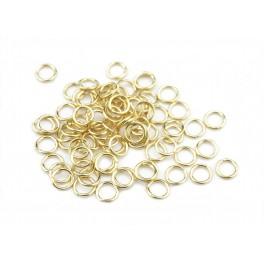 Lot de 15 Anneaux ouverts fins 4,5 mm en Plaqué Or 18 carats Composant de bijouterie pour la création