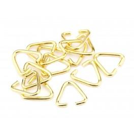 Lot de 4 Bélières Anneau triangle 9 mm en Plaqué Or 24 carats Apprêt de bijouterie pour la création de pendentif collier