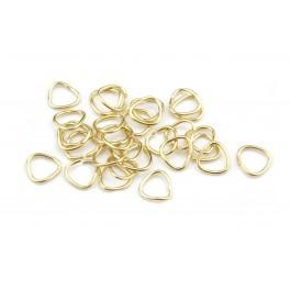 Lot de 5 Bélières Triangle arrondi 5 mm en Plaqué Or 24 carats Apprêt de bijouterie pour creation de pendentif collier