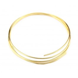 Fil de bijouterie en Plaqué Or 24 carats diamètre 0,8 mm longueur 50 cm Apprets de bijouterie de haute qualité