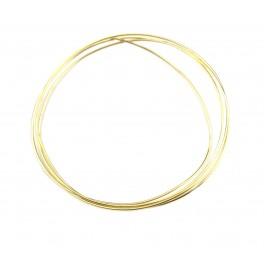 Fil de bijouterie en Plaqué Or 24 carats diamètre 0,6 mm longueur 50 cm Apprets de bijouterie