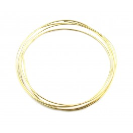 Fil de bijouterie en Plaqué Or 24 carats diamètre 0,5 mm longueur 50 cm Apprets de bijouterie de haute qualité