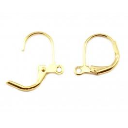 Boucle d'oreille Dormeuse en Plaqué Or 18 carats Anneau pour pendentif Apprêt de bijouterie pour création de boucle d'oreille