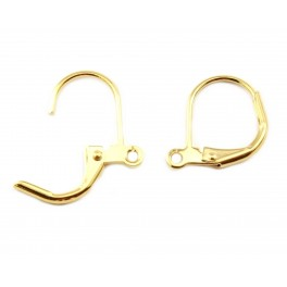 Pair of Leverback Earrings 18KGP Gold Plated Ring for pendant chain Jewelery findings for DIY earrings
