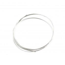 Fils en Argent Massif 925 Fils dur diamètre 0,4 mm 26 gauge 50 centimètres Composant de bijouterie