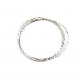 Fils en Argent Massif 925 Fils dur diamètre 0,6 mm 22 gauge 50 centimètres Composant de bijouterie
