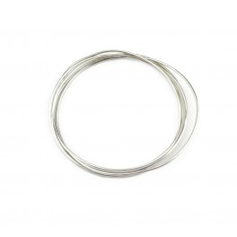 Hard wire 925 Solid Sterling Silver Diameter 0.6 mm 22 gauge Length 50 centimeters Findings For jewelry making