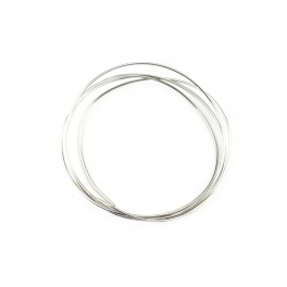 Fils en Argent Massif 925 Rhodié Fils dur diamètre 0,5 mm 24 gauge 50 centimètres Composant de bijouterie