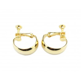 Large Boucle d'oreille Clip en Plaqué Or 24 carats Pour oreille non percée Apprets de bijouterie pour vos creations