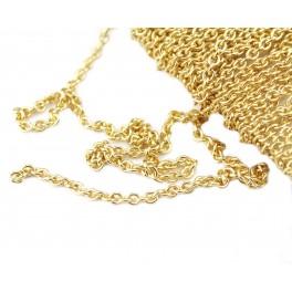 Fine Chaine au mètre maille 1 mm en Plaqué Or 18 carats Qualité professionnelle pour la création de bijoux