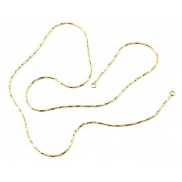 Chaine serpentine très fine avec anneaux 40 cm en Plaqué Or 24 carats Appret pour la création de bijoux Collier Bracelet