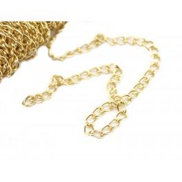 Chaine 50 cm maille 3,8 mm en Plaqué Or 18 carats Qualité professionnelle pour la création de bijoux Collier Bracelet Pendentif