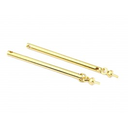 Lot de 2 connecteurs 30 mm en Plaqué Or 18 carats Cylindre rigide Apprêt de bijouterie pour pendentif, collier, boucle d'oreille