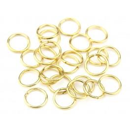Lot de 15 Anneaux ouverts 3,5 mm en Plaqué Or 24 carats Composant de bijouterie pour collier Bracelet Boucle d'oreille