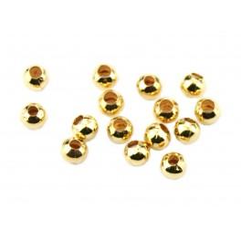 Lot de 8 perles de séparation Plaqué Or 24 carats Diamètre 3,2 mm Apprets de bijouterie pour la création de bijoux personnalisés