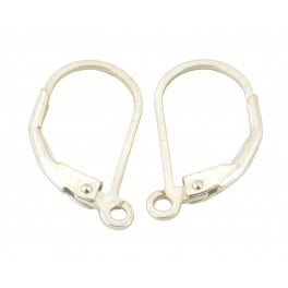 925 Solid Sterling Silver Earrings Lever back Flat wire Jewelry findings For designer to make personnalized earrings