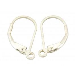 Boucle d'oreille Dormeuse fil plat en Argent Massif 925 Apprets pour la réalisation de bijoux personnalisés