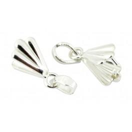 Lot de 2 Bélières en Argent Massif 925 Spécial création de bijoux pour pendentif Collier