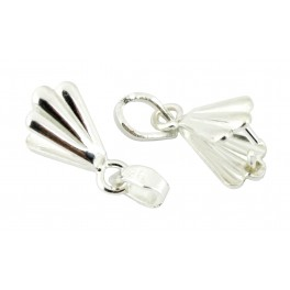 Set of 2 Pinch Bails 925 Solid Sterling Silver for Pendant Craft findings to create personalized jewel
