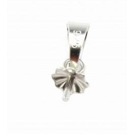 Lot de 2 Bélières en Argent Massif 925 Pour perle semi percée Composant de bijouterie pour la création de collier Pendentif