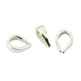 Lot de 5 Bélières pendentif en Argent Massif 925 Non soudée Appret pour la création de bijoux Collier Pendentif