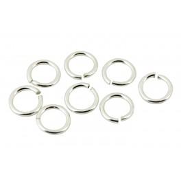 Assortiment de 15 anneaux ouverts fins en Argent Massif 925 Diamètre 4,0 - 5,2 mm Appret de bijouterie pour toutes vos creations