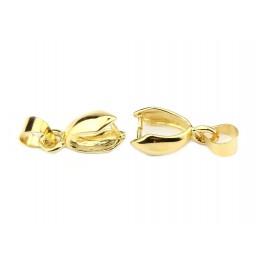 Lot de 2 Bélières 16 mm en Plaqué Or 24 carats Apprêt de bijouterie professionnelle Pour pendentif et collier