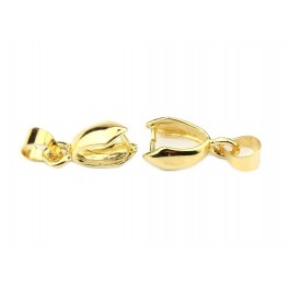 Set of 2 Bails clip 15 mm 24K Gold Plated Findings for jewelry making To create Pendant necklace