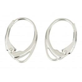 Boucle d'oreille Dormeuse Design Special en Argent Massif 925 Base de qualité professionnelle pour la réalisation de bijoux