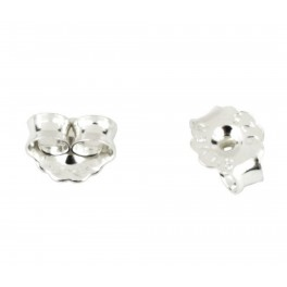 925 Solid Sterling Silver Set of 4 small ear nuts for stud  Craft findings for designer to create personalized earrings