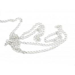 Chaine 50 cm en Argent Massif 925 Maille 2,5 mm Appret pour la création de bijoux collier bracelet pendentif