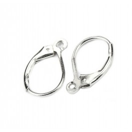 925 Solid Sterling Silver Rhodium plated Earrings Lever back with open jump ring Craft findings for designer