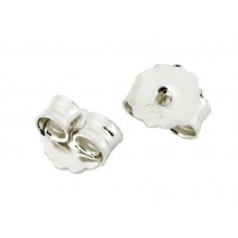 925 Solid Sterling Silver Rhodium Plated Set of 4 ear nuts for stud Big size Findings to create personalized earrings