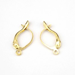 18KGP Gold Plated 750 ‰ - Pair of Leverback Earrings