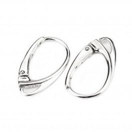 Boucle d'oreille Dormeuse Design Special en Argent Massif 925 Rhodié Appret professionnel pour la réalisation de bijoux