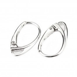 Rhodium plated 925 Solid Sterling Silver Earrings Lever back Special design Professionnal quality findings For jewelry making