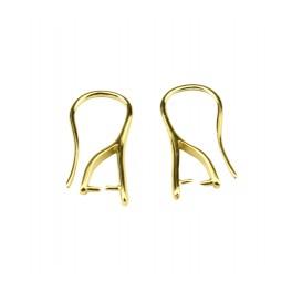 Boucle d'oreille Crochet en Plaqué Or 24 carats Attache pierre percee Pour vos créations de bijoux personnalisés