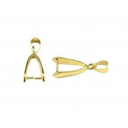 Lot de 2 Bélières 25 mm en Plaqué Or 24 carats Pour les créateurs de bijoux Pour pendentif collier