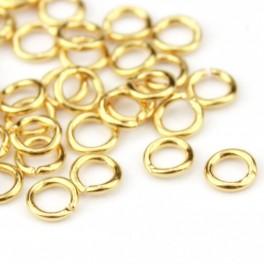 Lot de 15 Petits Anneaux ouverts 2 à 3 mm en Plaqué Or 24 carats Composant de bijouterie pour vos créations de bijoux.
