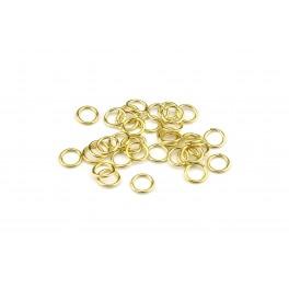Lot de 12 Grands Anneaux ouverts 4,0 mm en Plaqué Or 24 carats Composant de bijouterie pour vos créations de bijoux