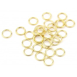 Lot de 12 Grands Anneaux ouverts 4,5 mm en Plaqué Or 24 carats Composant de bijouterie pour vos créations de bijoux