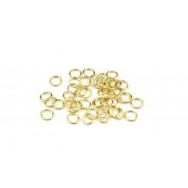 Lot de 12 Grands Anneaux ouverts 3,5 à 4,5 mm en Plaqué Or 24 carats Composant de bijouterie pour vos créations de bijoux