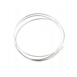 Fil rond semi-dur Plaqué Rhodium Blanc 50 centimètres Diamètre 0,7 mm Apprets pour la réalisation d'anneaux connecteurs liens