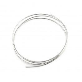 Fil rond semi-dur Plaqué Rhodium Blanc 50 centimètres Diamètre 0,8 mm Apprets pour la réalisation d'anneaux connecteurs liens