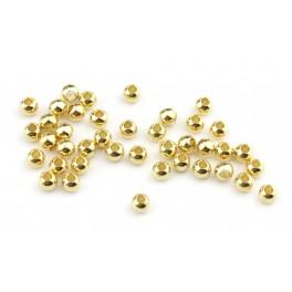 Lot de 8 perles de séparation Plaqué Or 24 carats Diamètre 3 mm Apprets de bijouterie pour la création de bijoux personnalisés