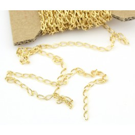 Chain by meter link 4.2 mm 18KGP Gold Plated Findings for jewelry making to create necklace