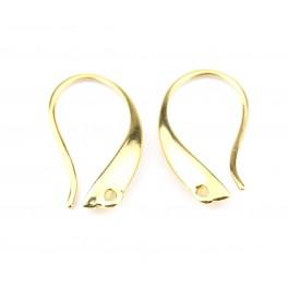 Crochet Boucle d'oreille en Plaqué Or 18 carats Special pendentif Appret de bijouterie pour creer des bijoux