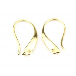 Pair of Earrings Hook 18K Gold Plated Special pendant Craft findings for jewelry designer